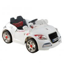 Carro elétrico esporte c controle remoto branco 6v bel brink - 0 - Bel brink