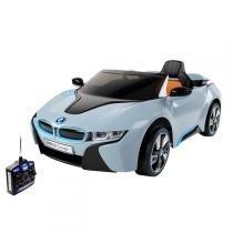 Carro Elétrico Infantil Esporte Bmw Azul Com Controle Remoto 12V Bel Brink -