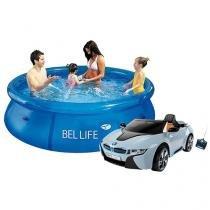 Carro Elétrico Infantil Esporte BMW - com Controle Remoto + Piscina Redonda 2300 Litros