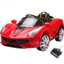 Carro Elétrico Infantil Luxo Vermelho 12V - BelFix -