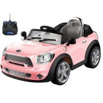 Carro Elétrico Infantil Mini Cooper Conversível Rosa 6V - BelFix -