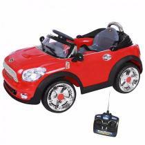 Carro Elétrico Infantil Mini Cooper Conversível Vermelho 6V II - BelFix -
