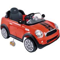 Carro Elétrico Mini Cooper Vermelho Lenox Kiddo 7003 -