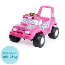 Carro Elétrico Peg Perégo Jeep Nevada Pick-up 6V - Pink - Peg Pérego