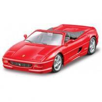 Carro Ferrari F355 Spider Vermelha - Kit de Montagem - 1:24 - Maisto - New toys
