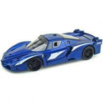 Carro Hot Wheels Colecionável - Ferrari FXX Evoluzione Azul - 1:18 - Mattel - California Toys