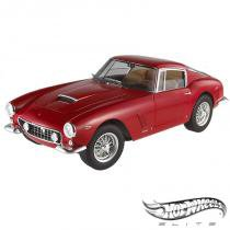 "Carro Hot Wheels Elite - Ferrari 250 GT Berlinetta Passo Corto SWB"" - 1:18 - Mattel - California toys"