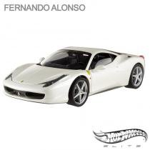 Carro Hot Wheels Elite - Ferrari 458 Italia Fernando Alonso - 1:18 - Mattel - California toys