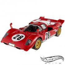 Carro Hot Wheels Elite - Ferrari 512S 24Hrs of Daytona 1970 - 1:18 - Mattel - California toys