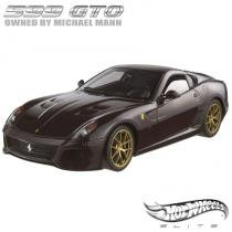Carro Hot Wheels Elite - Ferrari 599 GTO Michael Mann - 1:18 - Mattel - California toys