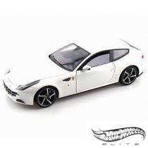 Carro Hot Wheels Elite - Ferrari FF White Pearl - 1:18 - Mattel - California toys