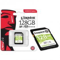 Cartão de Memória 128GB Classe 10 Kingston SDS/128GB SDXC 80R/10W UHS-I U1 Canvas Select -