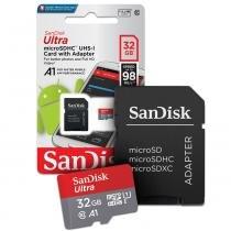 Cartão de memoria 32gb micro sd cl10 98mb/s ultra plus sdsquar sandisk -