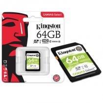 Cartão de Memória 64GB Classe 10 Kingston SDS/64GB SDXC 80R/10W UHS-I U1 Canvas Select -