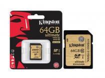 Cartao de Memoria 64GB Classe 10 Kingston  Secure Digital Ultimate SDXC UHS-I - SDA10/64GB -