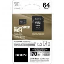 Cartão de Memória 64GB Micro SDXC com Adaptador Classe 10 SR-64UY2 SONY - Sony