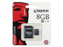 Cartão de Memória 8Gb Classe 4 Micro + 1 Adaptador Kingston - SDC4/8GB -