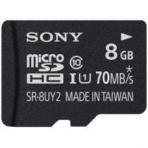 Cartão de Memória 8GB Micro SD Classe 10 - com Adaptador - Sony SR-8UY2A/TQ