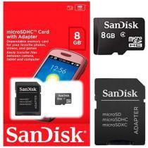 Cartão De Memória 8gb Micro Sdadapt - Sandisk