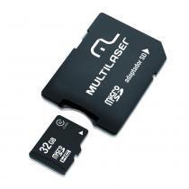 Cartão de memória classe 10 32gb com adaptador - MC111 - Multilaser