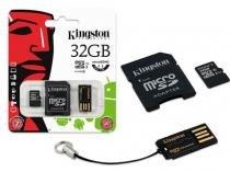 Cartao de Memoria Classe 10 Kingston MBLY10G2/32GB Multikit 32GB Micro Sdhc+adaptador Sd+adaptadorusb -