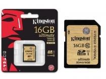 Cartao de memoria classe 10 kingston sda10/16gb secure digital ultimate sdhc 16gb uhs-i -