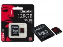 Cartao de memoria classe 10 kingston sdca3/128gb micro sdxc 128gb uhs-i u3 com adaptador sd -