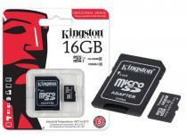 Cartao de Memoria Classe 10 Kingston SDCIT/16GB Micro SDHC Industrial 16GB com Adaptador SD UHS-1 -