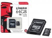 Cartao de memoria classe 10 kingston sdcit/64gb micro sdxc industrial 64gb com adaptador sd uhs-1 -