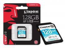 Cartao de Memoria Classe 10 Kingston SDG/128GB SDXC 128GB 90R/45W UHS-I U3 V30 Canvas GO -