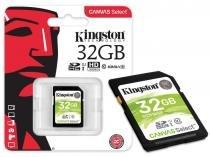 Cartao de Memoria Classe 10 Kingston SDS/32GB SDHC 32GB 80R/10W UHS-I U1 Canvas Select -