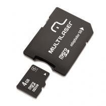 Cartão De Memoria Classe 4 Micro Sd 4gb Com Adaptador - Multilaser - Multilaser