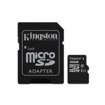 Cartao De Memoria Kingston Micro 16gb Microsdhc Class 10 Adaptador - Sdc10g2/16gb - Kingston