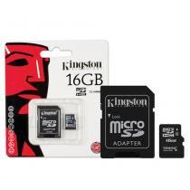 Cartão de Memória Kingston Micro SDHC com Adaptador 16GB SDC4/16GB -