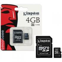 Cartão de Memória Micro Sd 4gb Kingston - Para Celular, Tablet, Câmera -