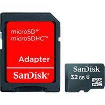 Cartão De Memória Micro Sd Sandisk 32gb   Adaptador Sd -
