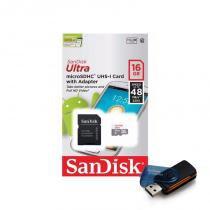 Cartão de Memória Micro SD SanDisk Classe 10 Ultra 16GB 48mb/s - Kingston