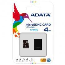 Cartão De Memória Micro Sdhc 4 Gb Classe 4 Com Adaptador Adata -