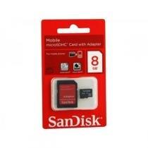 Cartão de Memória Micro SDHC 8GB + Adaptador SD - Sandisk - Sandisk