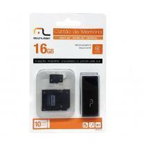 Cartão de Memória MicroSD 16Gb 3 em 1 - Multilaser - Kingston