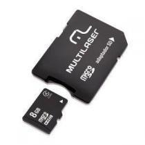 Cartao de Memoria Multilaser MC004 Micro SD 8GB com Adaptador SD -