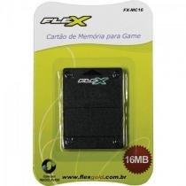 Cartao de Memoria PLAYSTATION2 16MB Preto FXMC16 FLEX -