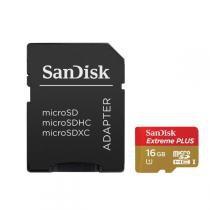 Cartão de Memória SanDisk Micro SDHC 16GB Extreme Plus - Sandisk