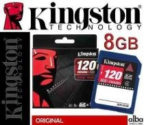 Cartao de Memoria SDHC 8GB Kingston Originl Video 120 MIN HD - Alba eletronicos