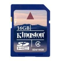 Cartão De Memoria Secure Digital (SD) 16gb Classe 4 Kingston - SD4/16GB - Kingston