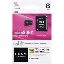 Cartão de Memória Sony Micro SR-8A4, 8GB -