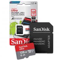 Cartão de Memoria. 128gb Micro sd Cl10 100mb/s Ultra Plus SDSQUAR Sandisk -