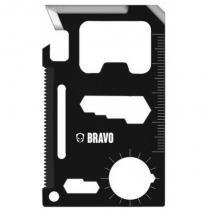Cartão de Sobrevivência com 11 Funções em Aço Inoxidável Bravo Militar - Bravo Militar
