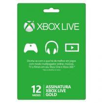 Cartão live gold 12 Meses - Xbox Live - Xbox One - Microsoft