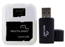 Cartão Micro Sd 32gb Classe 10 Kit 3x1 Pen Drive Usb Memoria 32 gb - Multilaser